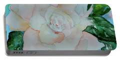 Portable Battery Charger featuring the painting Sweet Gardenia by Beverley Harper Tinsley
