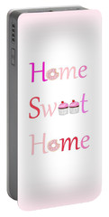 Sweet Home - Typography Portable Battery Charger