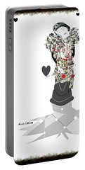 Portable Battery Charger featuring the mixed media Sweet Lady 7 by Ann Calvo