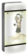 Portable Battery Charger featuring the mixed media Sweet Lady 8 by Ann Calvo