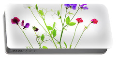Portable Battery Charger featuring the photograph Sweet Peas by Rebecca Cozart