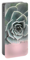 Sweet Pink Paint On Succulent Portable Battery Charger