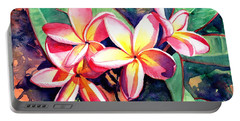Sweet Plumeria Portable Battery Charger