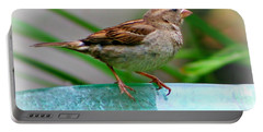 Sweet Sparrow Portable Battery Charger by Barbara S Nickerson