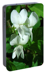 Portable Battery Charger featuring the photograph Sweet White Violets Dspf0405 by Gerry Gantt