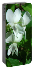 Sweet White Violets Dspf0405 Portable Battery Charger