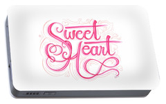 Portable Battery Charger featuring the drawing Sweetheart by Cindy Garber Iverson