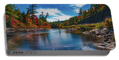 Portable Battery Charger featuring the photograph Swift River Swirls by Chris Lord