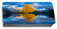 Swiftcurrent Lake Sunrise Panorama Portable Battery Charger