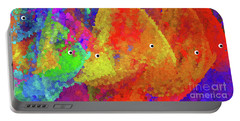Swimming Rainbow Fish Abstract Portable Battery Charger