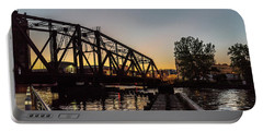 Swing Bridge Sunset Portable Battery Charger