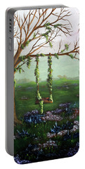 Swingin' With The Flowers Portable Battery Charger
