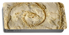 Portable Battery Charger featuring the photograph Swirl Drawn In The Sand by Francesca Mackenney
