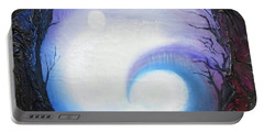 Swirl Of Fog Portable Battery Charger