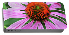 Swirling Purple Cone Flower 3576 H_2 Portable Battery Charger