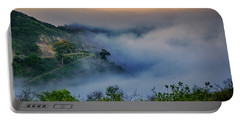 Portable Battery Charger featuring the photograph Switchbacks In The Clouds by Joseph Hollingsworth