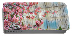 Swords Into Plowshares - Spring Flowers Portable Battery Charger by Miriam Danar