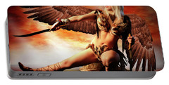 Swords Of The Hawk Woman Portable Battery Charger
