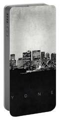 Sydney City Skyline With Opera House Portable Battery Charger by World Art Prints And Designs