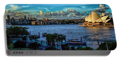 Sydney Harbor And Opera House Portable Battery Charger by Diana Mary Sharpton