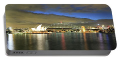 Sydney Harbor At Blue Hour Portable Battery Charger