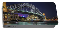 Sydney Harbor Bridge At Night Portable Battery Charger