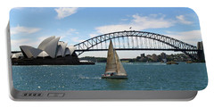 Sydney Harbour No. 1 Portable Battery Charger by Sandy Taylor