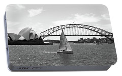 Sydney Harbour No. 1-1 Portable Battery Charger by Sandy Taylor