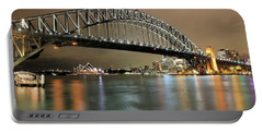 Sydney Harbour At Night Portable Battery Charger