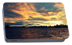 Sydney Harbour At Sunset Portable Battery Charger by Leanne Seymour