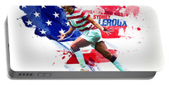 Sydney Leroux Portable Battery Charger by Semih Yurdabak
