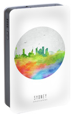 Sydney Skyline Ausy20 Portable Battery Charger by Aged Pixel