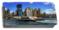 Sydney Skyline From Harbor By Kaye Menner Portable Battery Charger by Kaye Menner