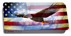 Usa Flag And Eagle Portable Battery Charger