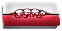 Symmetrical Red Wine Bubbles Portable Battery Charger