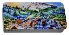 Portable Battery Charger featuring the painting Symphony Of Silence by Hanne Lore Koehler