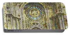Portable Battery Charger featuring the mixed media Synagogue by Tony Rubino