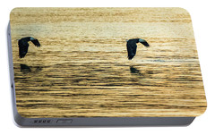 Portable Battery Charger featuring the photograph Synchronized Bald Eagles At Dawn 1 Of 2 by Jeff at JSJ Photography