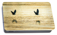 Portable Battery Charger featuring the photograph Synchronized Bald Eagles At Dawn 2 Of 2 by Jeff at JSJ Photography