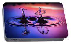 Portable Battery Charger featuring the photograph Synchronized Liquid Art by William Lee