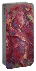 Portable Battery Charger featuring the painting Syncopation 4 by Mini Arora