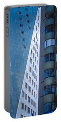 Synergy Between Old And New Apartments Portable Battery Charger by John Williams
