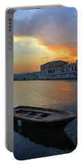 Syracuse Skiff At Sunset Portable Battery Charger