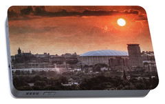 Syracuse Sunrise Over The Dome Portable Battery Charger by Everet Regal