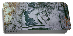 Portable Battery Charger featuring the photograph T-31501 Gorge Snow Cornell U Campus by Ed Cooper Photography