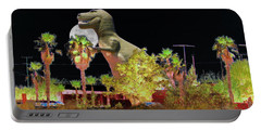 T-rex In The Desert Night Portable Battery Charger