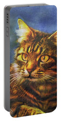 Tabby Blue Portable Battery Charger