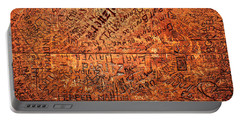 Table Graffiti Portable Battery Charger by Todd Klassy