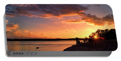 Portable Battery Charger featuring the photograph Table Rock Sunset by Cricket Hackmann