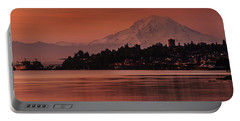 Tacoma Bay Mount Rainier Sunrise Portable Battery Charger